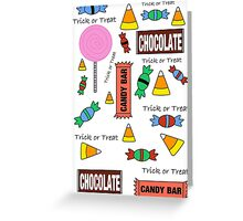 Halloween Candy Explosion Greeting Card