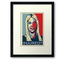 Joumana Kayrouz - Injured? Framed Print