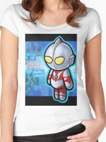 ULTRAMAN POOTERBELLY Women's Fitted Scoop T-Shirt