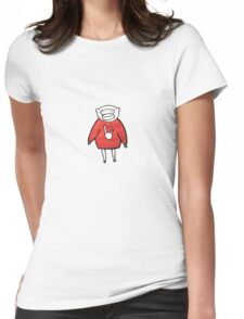 Cozy Monkey Womens Fitted T-Shirt