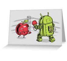 Fruit Vs. Robot Greeting Card