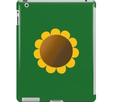 Sunflower Graphic Design, Solid Yellow and Brown iPad Case/Skin