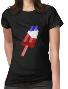 Popsicle Red White and Blue Womens Fitted T-Shirt