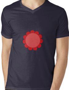 Pink Sunflower Graphic Design Mens V-Neck T-Shirt