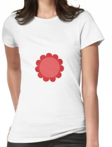 Pink Sunflower Graphic Design Womens Fitted T-Shirt