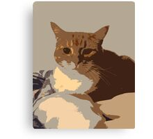 Retro Cat Canvas Print