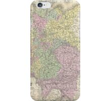 Vintage Map of Germany (1853) iPhone Case/Skin