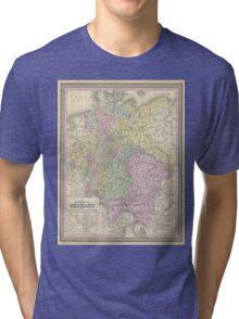 Vintage Map of Germany (1853) Tri-blend T-Shirt
