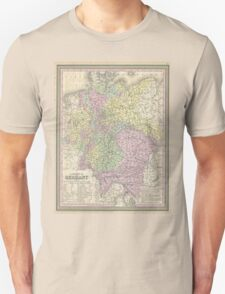 Vintage Map of Germany (1853) Unisex T-Shirt