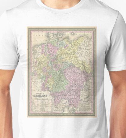 Vintage Map of Germany (1853) Unisex T-Shirt
