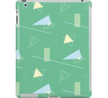 Green retro 80s pattern iPad Case/Skin