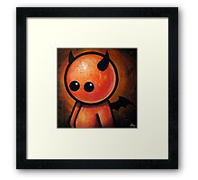 CUTE LITTLE DEVIL POOTERBELLY Framed Print
