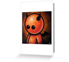 CUTE LITTLE DEVIL POOTERBELLY Greeting Card