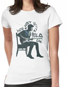 Shawn Mendes Hold On Typography Womens Fitted T-Shirt
