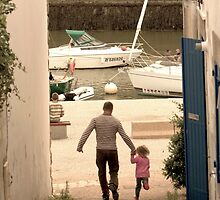 Father & Daughter Out for a Walk by Buckwhite