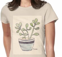 Echeveria seedlings Womens Fitted T-Shirt