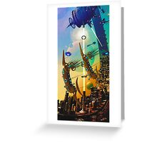 PORT XG-5938 IN THE QUILL REGION OF THE DUJORGANA SECTOR ( The New Earth) Greeting Card