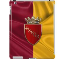 Coat of arms of Rome over Flag of Rome iPad Case/Skin