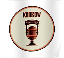 SF Giants Announcer Mike Krukow Pin Poster