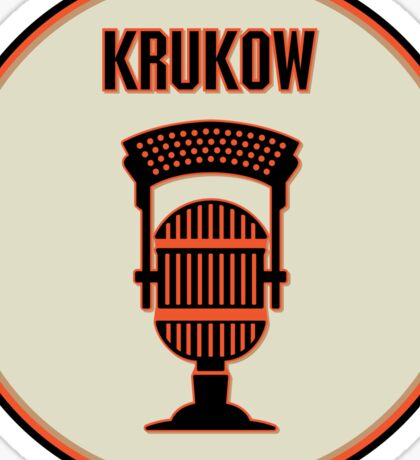 SF Giants Announcer Mike Krukow Pin Sticker