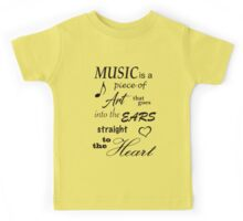 Music Quotes Kids Tee