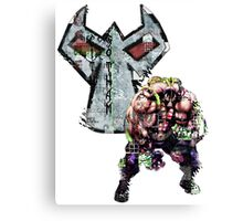 Bane Gridwork Character and Logo Canvas Print