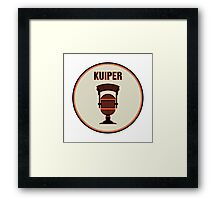 SF Giants Announcer Duane Kuiper Pin Framed Print
