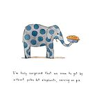 polka dot elephants, serving us pie by Marc Johns