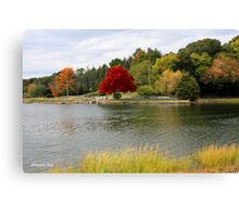 Autumn View of the Mystic River  Canvas Print