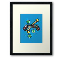Arcade Keyboard Framed Print