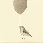 bird with balloon by Marc Johns