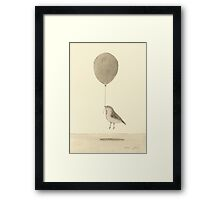 bird with balloon Framed Print