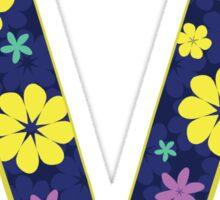 Flower Letter V Sticker