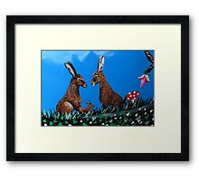 The March Hare (3:2 version ) Framed Print