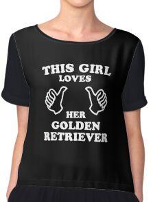 This Girl Loves Her Golden Retriever Chiffon Top