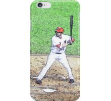 MLB Batting Baseball Player iPhone Case/Skin