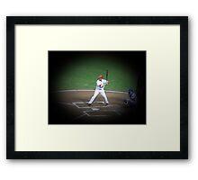 MLB Batting Baseball Player Framed Print