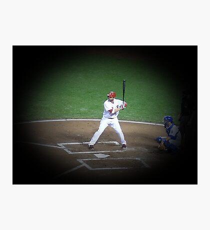 MLB Batting Baseball Player Photographic Print