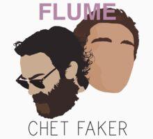Chet Faker & Flume - Minimalistic Print by CongressTart
