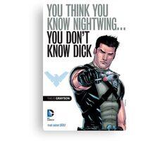 Grayson Comic Series Poster - New 52 Canvas Print