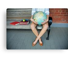 World in her hands Canvas Print