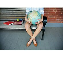 World in her hands Photographic Print