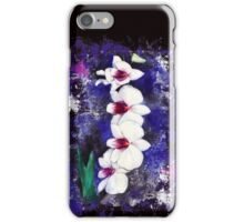 White orchid iPhone Case/Skin