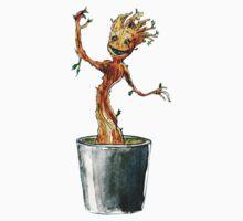 I am Dancing Groot - in Watercolour! by JohnDC