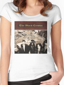 THE BLACK CROWES ALBUMS 1 Women's Fitted Scoop T-Shirt