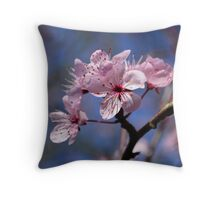 Cherry Blossom Spring Floral Print Throw Pillow