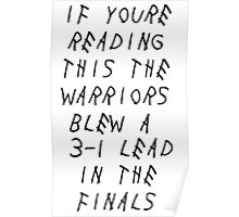 Warriors Blew a 3-1 Lead Poster