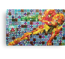 Samus Gridwork with Metroid Canvas Print