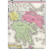 Vintage Map of Greece (1853) iPad Case/Skin