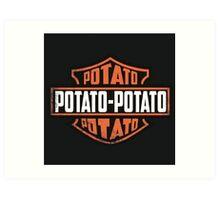 Harley Davidson Potato Art Print